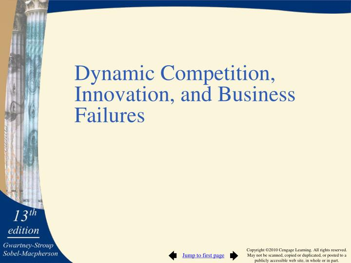 Dynamic Competition, Innovation, and Business Failures