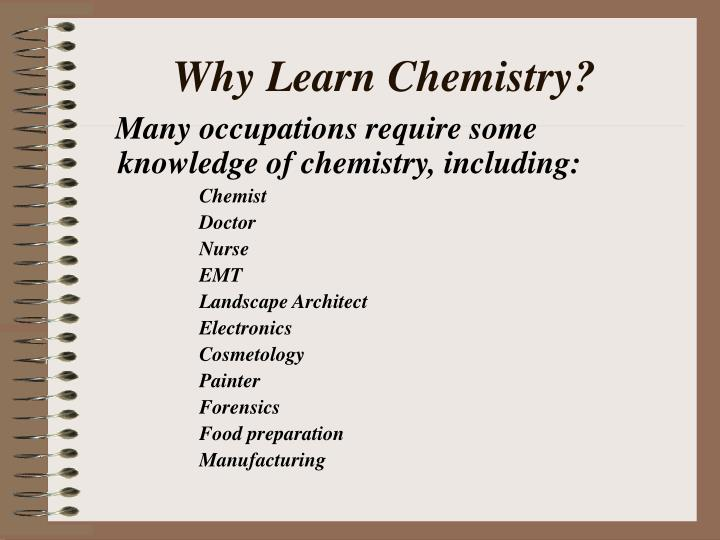 Why learn chemistry2