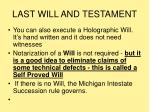 last will and testament1