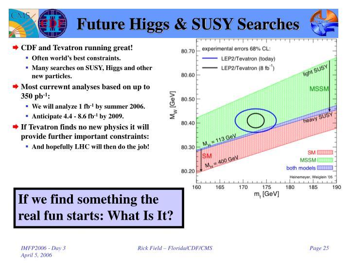 Future Higgs & SUSY Searches