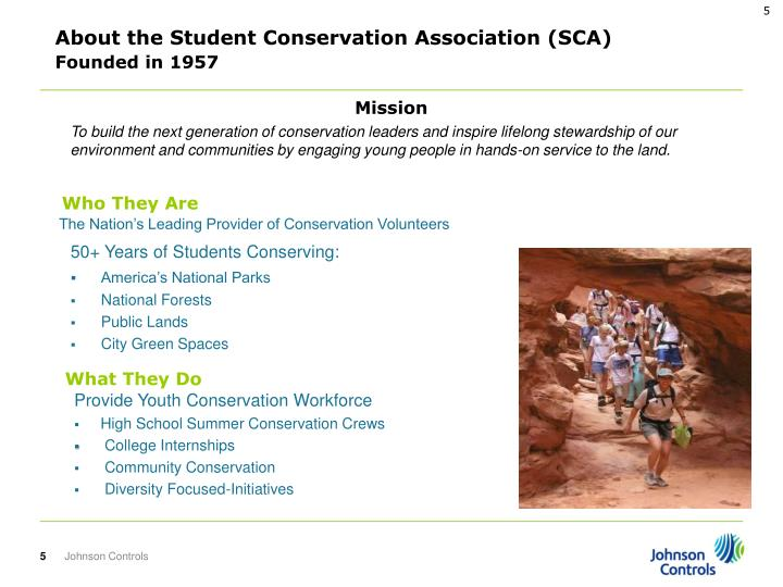 About the Student Conservation Association (SCA)