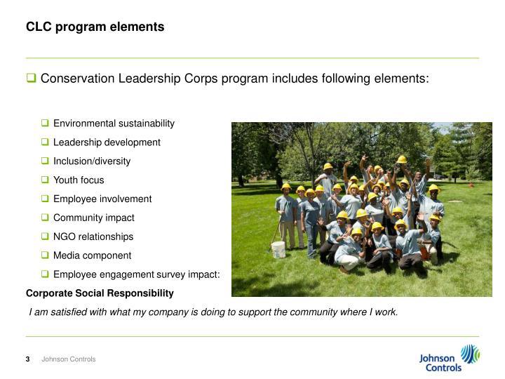 CLC program elements