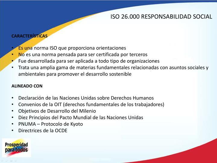 ISO 26.000 RESPONSABILIDAD SOCIAL