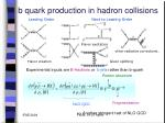 b quark production in hadron collisions