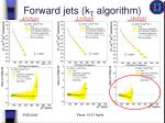 forward jets k t algorithm