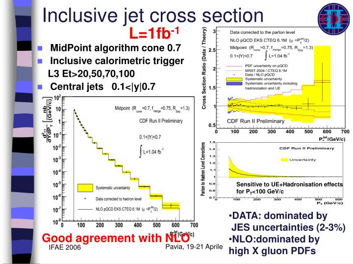 Inclusive jet cross section