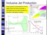 inclusive jet production