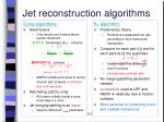 jet reconstruction algorithms