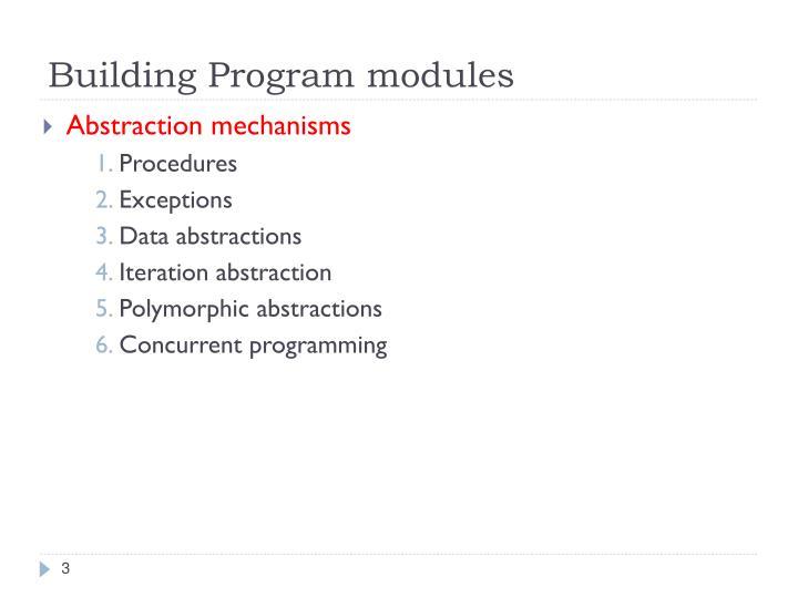 Building Program modules