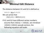 minimal edit distance3