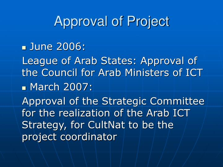 Approval of Project