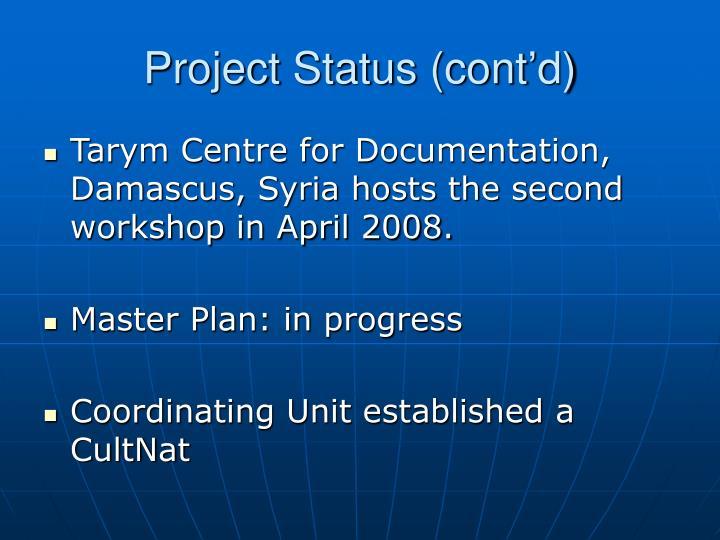Project Status (cont'd)
