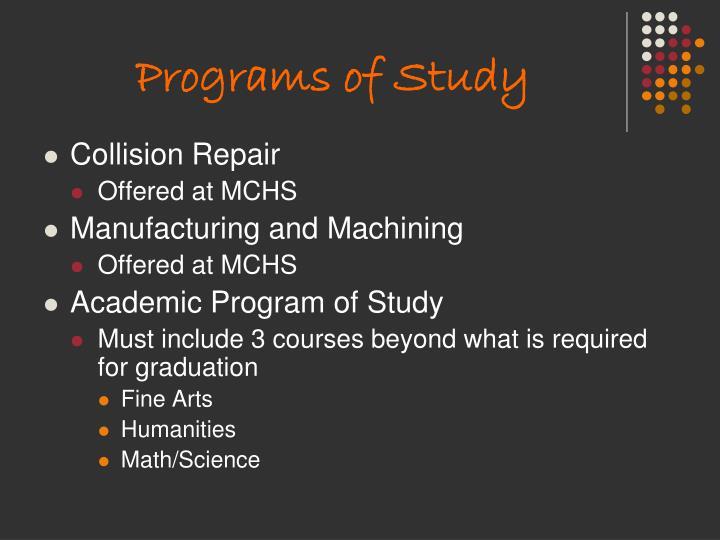 Programs of Study