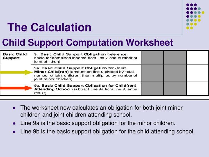 Child Support Computation Worksheet