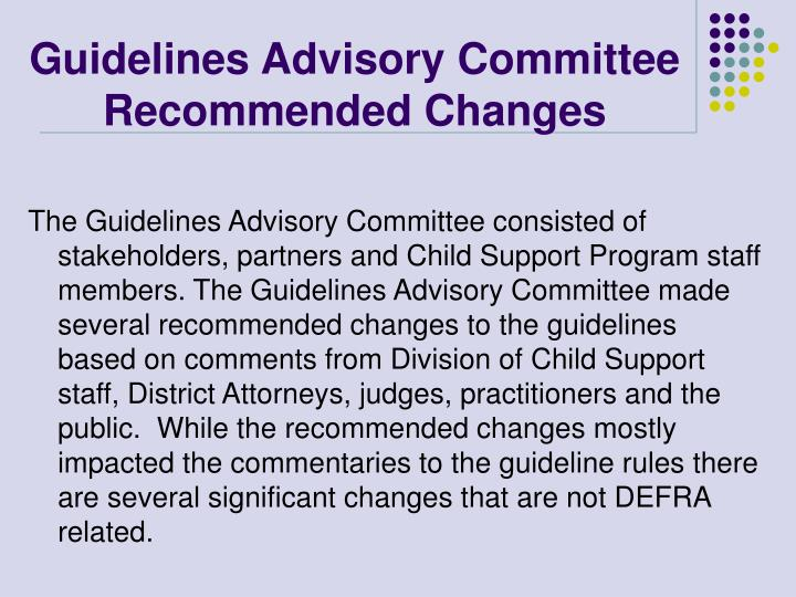 Guidelines Advisory Committee