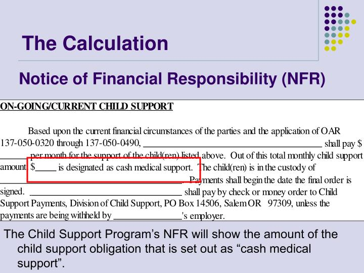 Notice of Financial Responsibility (NFR)