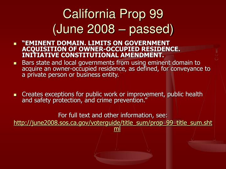 California Prop 99