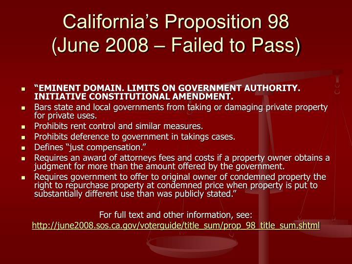 California's Proposition 98