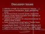 discussion issues