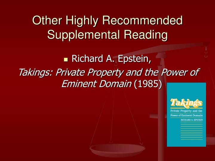 Other Highly Recommended Supplemental Reading