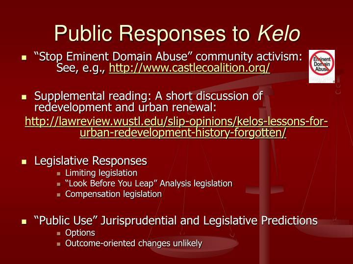 Public Responses to