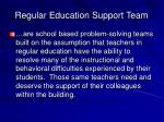 regular education support team