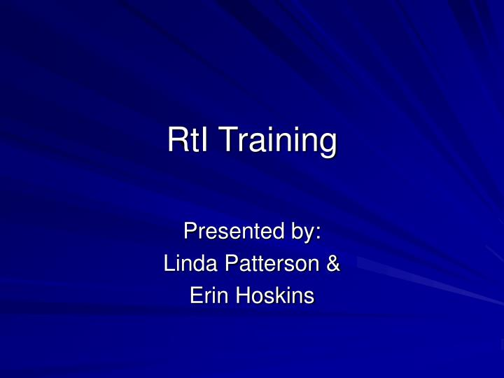 rti training