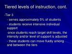 tiered levels of instruction cont1