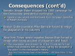 consequences cont d