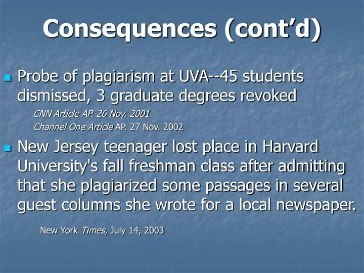 Consequences (cont'd)