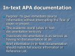 in text apa documentation