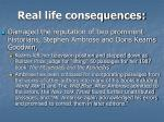 real life consequences