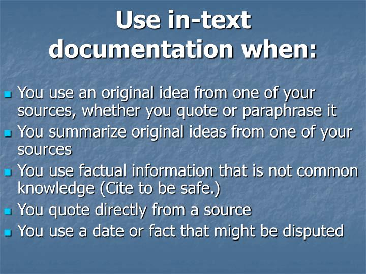 Use in-text