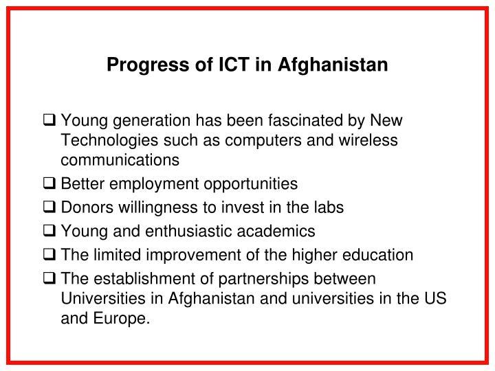 Progress of ICT in Afghanistan