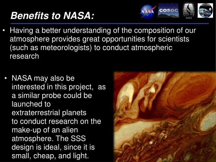 Benefits to NASA: