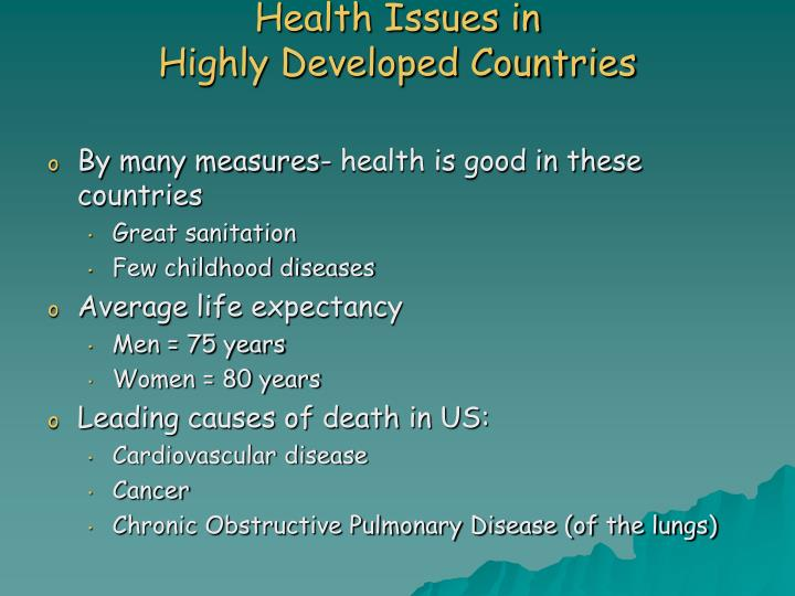Health Issues in
