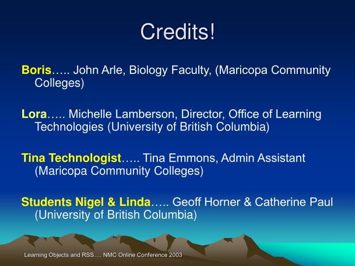 Credits!