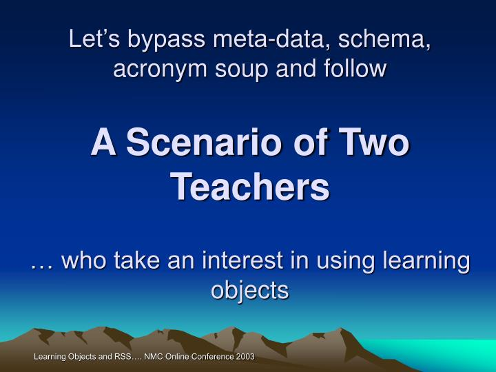 Let's bypass meta-data, schema, acronym soup and follow