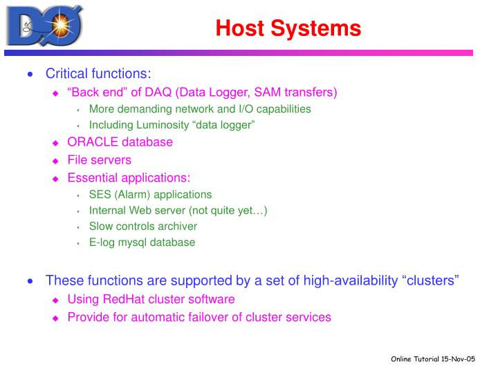 Host Systems