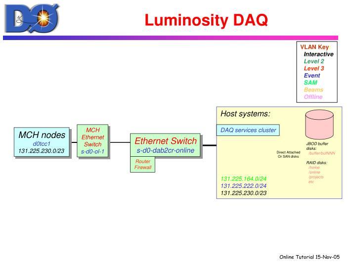 Luminosity DAQ