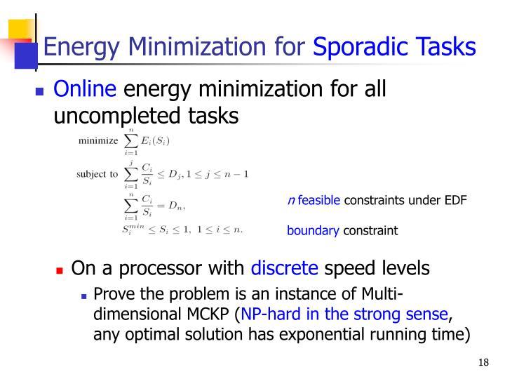 Energy Minimization for