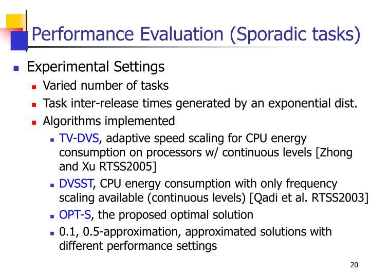 Performance Evaluation (Sporadic tasks)
