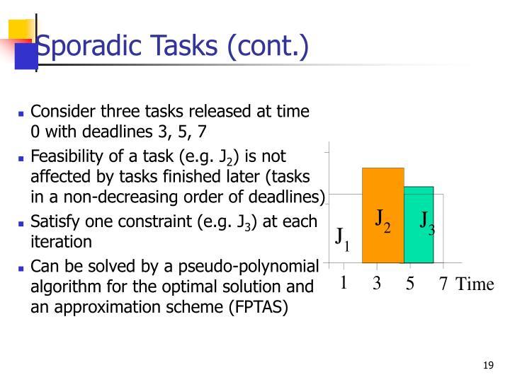 Sporadic Tasks (cont.)