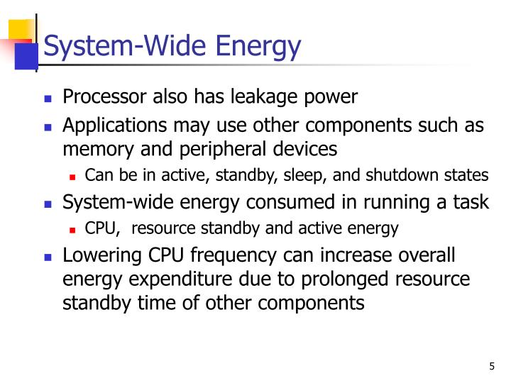 System-Wide Energy