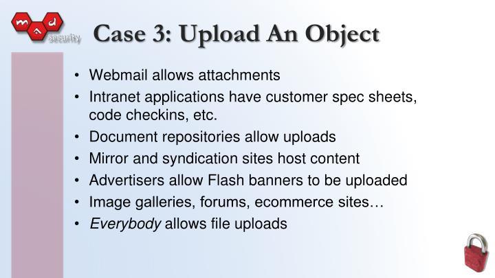 Case 3: Upload An Object