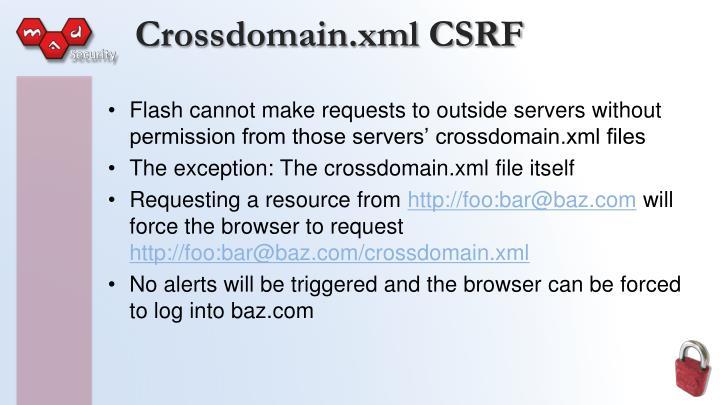 Crossdomain.xml CSRF