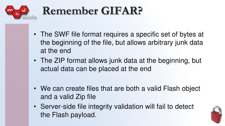 Remember GIFAR?