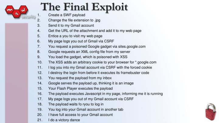 The Final Exploit