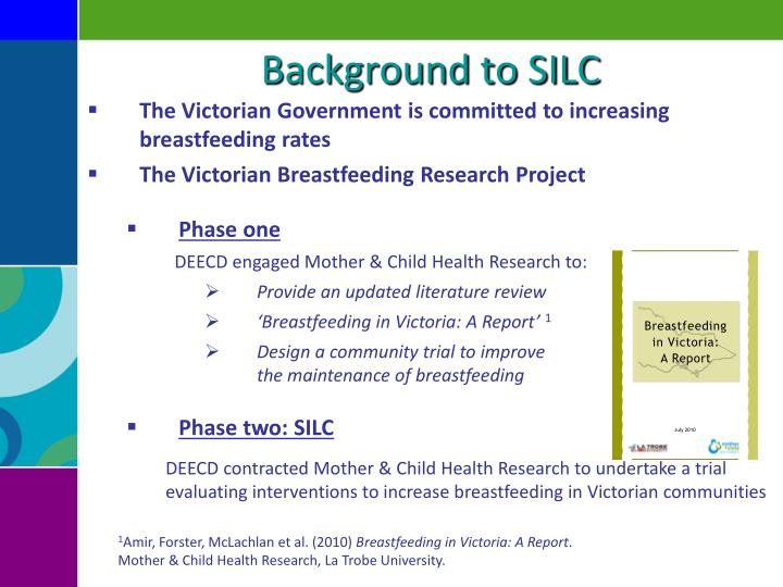 Background to SILC