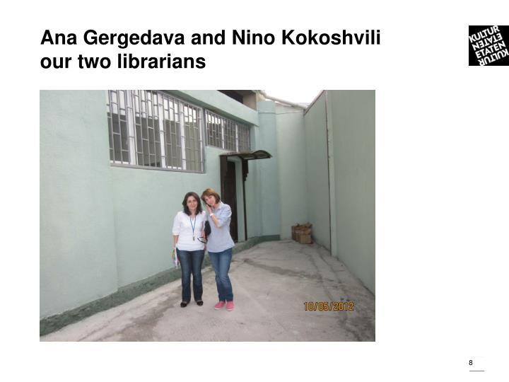 Ana Gergedava and Nino Kokoshvili